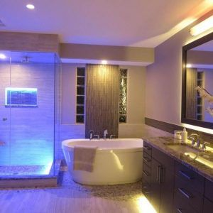 Ordinaire Blue Led Bathroom Lights