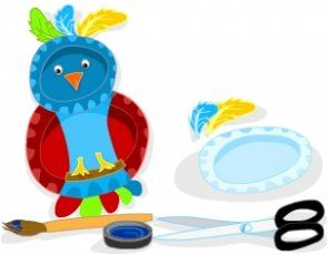 Paper Plate Parrot - make it blue & yellow for a Blue & Gold Macaw ...