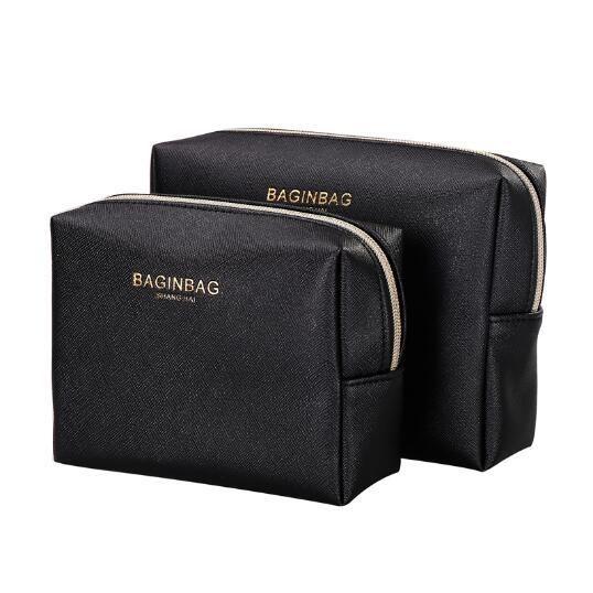 d881e16bf Fashion Cross Pattern PU Leather Cosmetic Bag Women MakeUp Bag Organizer  Waterproof Storage Bag Clutch bolsa neceser maquillaje