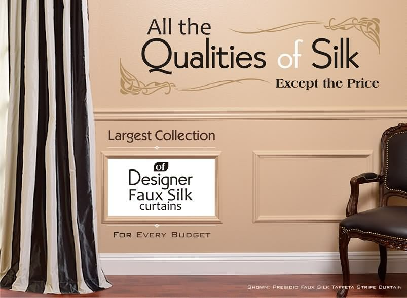 Designer FauxSilk CurtainsFrom $39/Panel
