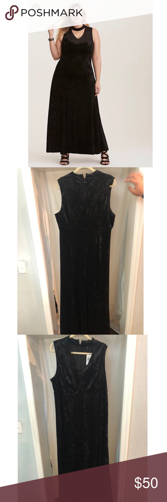 Special occasion long black velvet dress boutique my posh closet