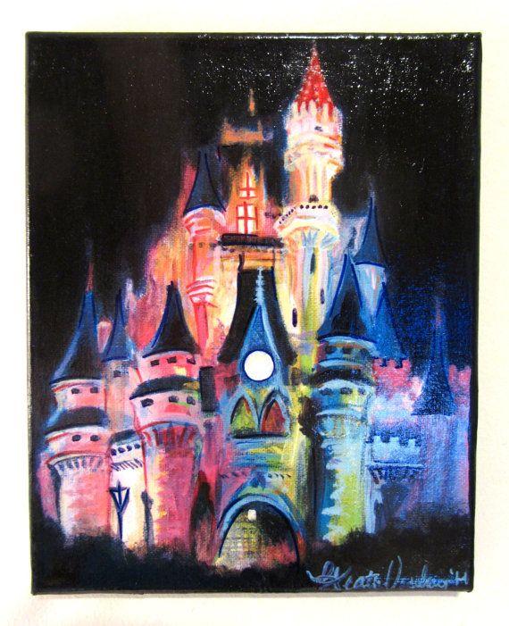 Disney Magic Acrylic Sharpie Painting On 8x10 Canvas