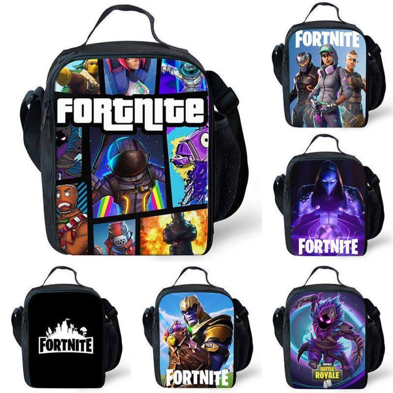 Fortnite Battle Royale Insulated Lunch Box Girls Boys School Bag Snack Bag