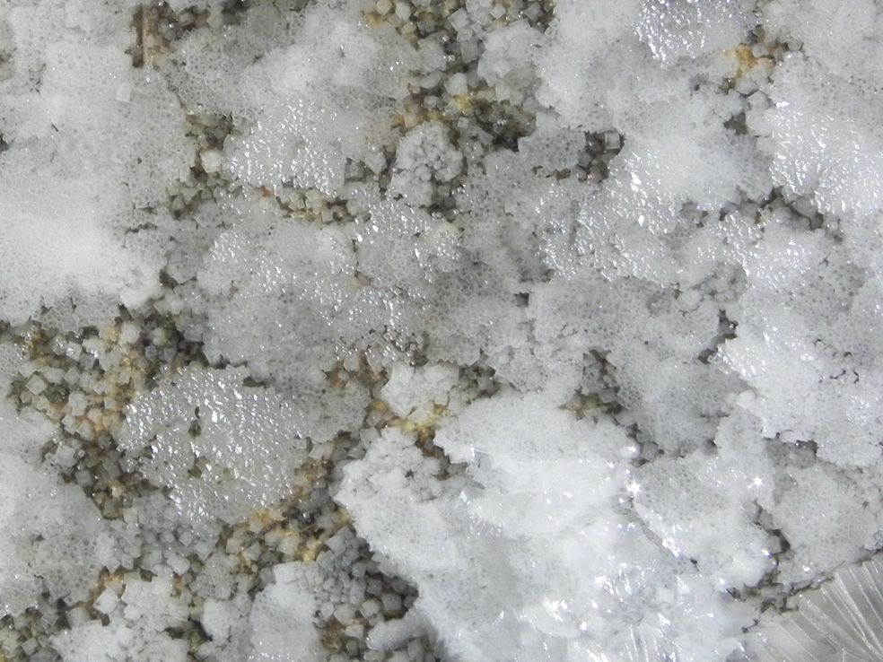 EuroSynergy Malta 2014 - salt crystals forming from evaporating sea water