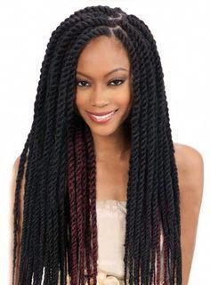 Long Thick Twist Cuban Braids Braid Hair Style African American Women Ladies Hai...,  #Africa... - #african #braid #braids #cuban #style #thick #twist - #new #africanamericanhair