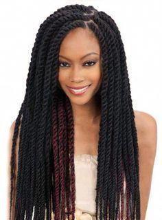 Long Thick Twist Cuban Braids Braid Hair Style African American Women Ladies Hai...,  #Africa... - #african #braid #braids #cuban #style #thick #twist - #new #africanamericanhair
