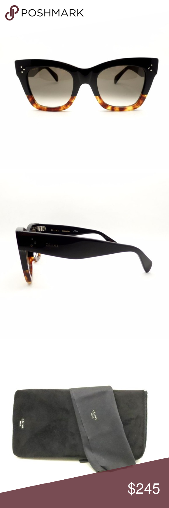 dfe95fdc486f Celine CL 41098 F S FU5 Z3 Black Havana Tortoise Condition New with tags  GenderWomen Protection100% UV BrandCeline Lens TechnologyFade  StyleRectangular ...