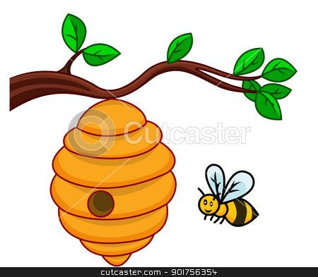 bee hive clip art illustration of isolated beehive branch stock rh pinterest com beehive clipart png beehive clipart png