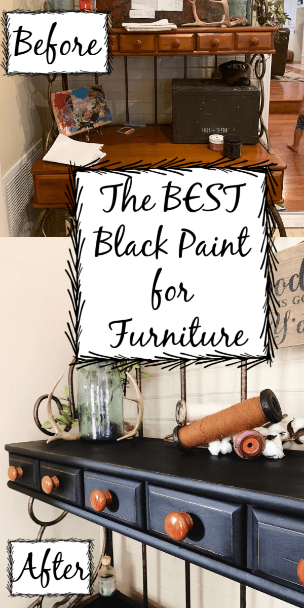 The Best Black Paint For Furniture Furniture Makeover Black Painted Furniture Diy Furniture Renovation