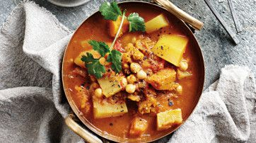 Vegan Sweet Potato and Butternut Curry