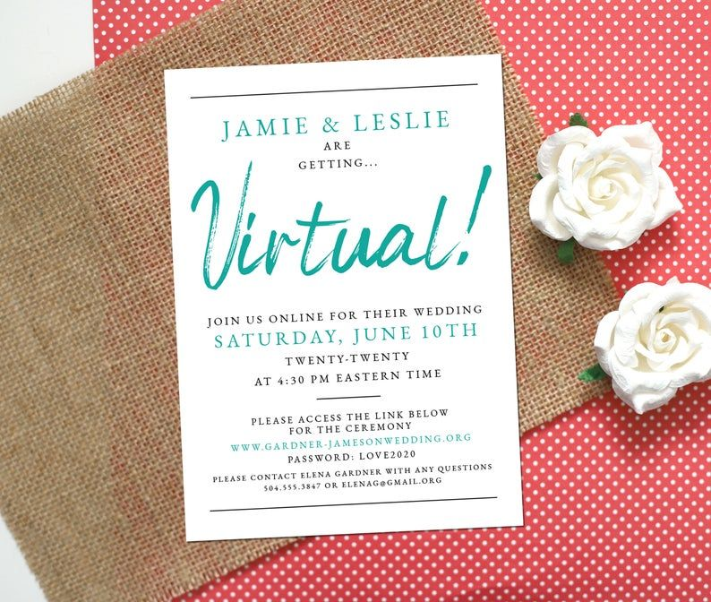 Virtual Wedding Invitation Online Wedding Invitation Etsy Wedding Invitations Online Etsy Wedding Invitations Digital Wedding Invitations