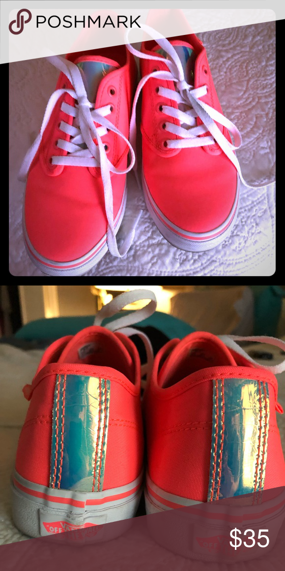 """a6a8f397c90ff6 Vans """"Mermaid"""" Vans only worn once. Really cute iridescent tongue and heel. Vans  Shoes Sneakers"""
