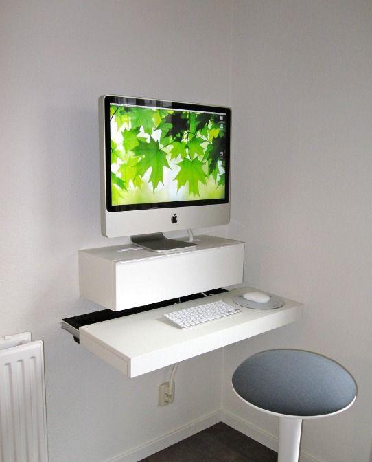 Kreative Umbauideen Fur Ikea Mobel Detailverliebt De Schreibtische Fur Kleine Raume Schreibtisch An Der Wand Befestigt Kleine Computertische
