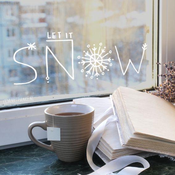 Lass es schneien für einen Winterblick, fei ... - #a #he #Se #snow #uitzicht #vier - #einen #schneien #uitzicht #winterblick #dekowinter