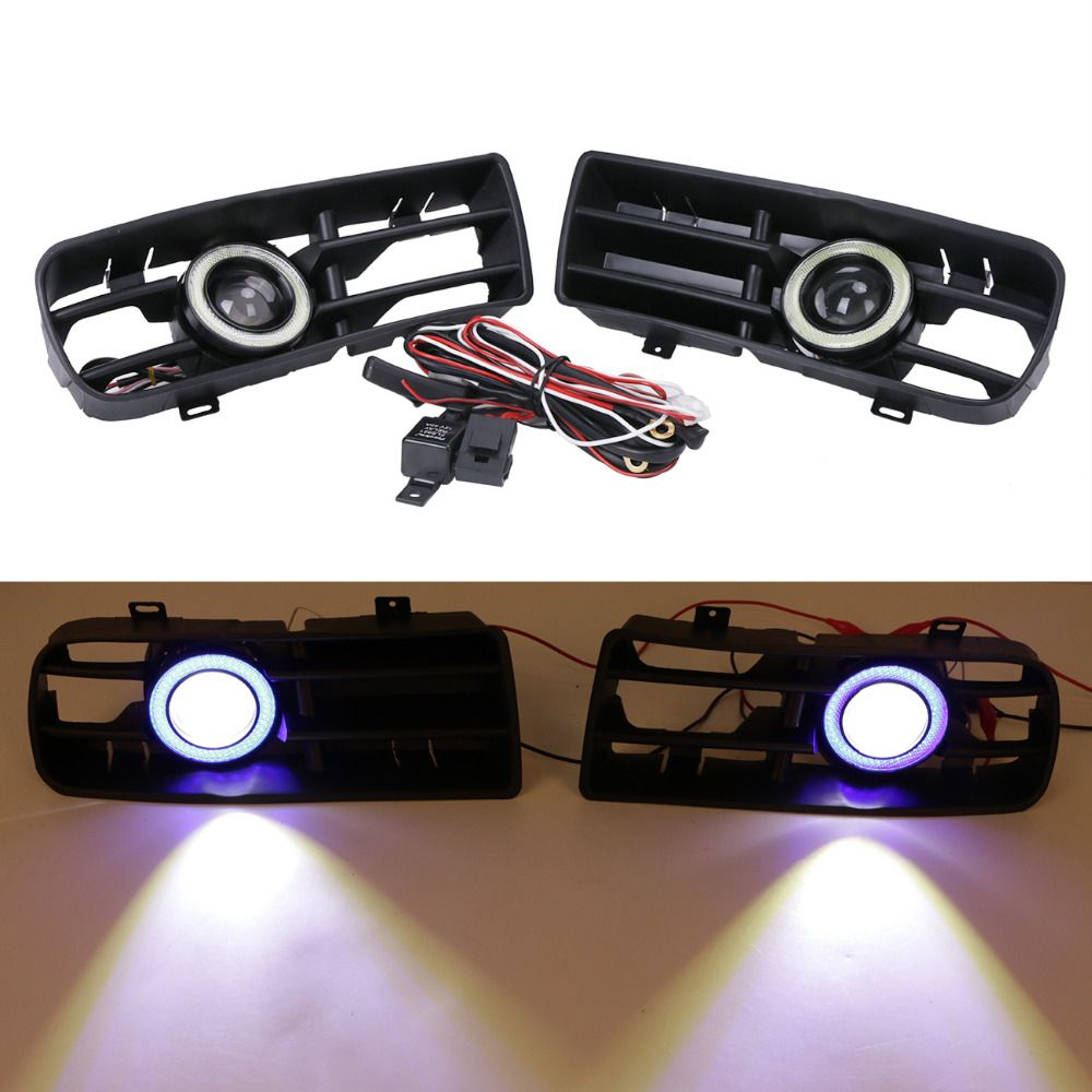For Vw Golf Gti Tdi R32 Mk4 1998 2004 Front Bumper Grill With Led Light Switch Wiring Angel