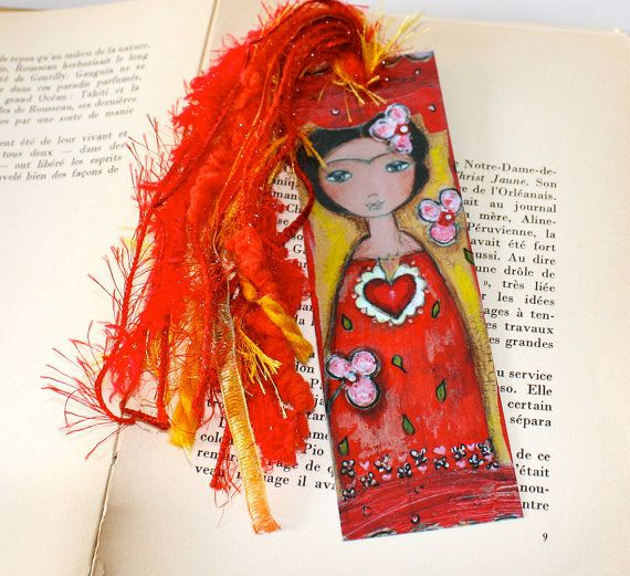Frida and Her Sacred Heart   Laminated Bookmark  by FlorLarios, $8.00