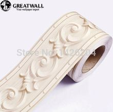 Great Wall 3d Pvc Self Adhesive Wallpaper 0 108m 5m Wall Listello Bedroom Stickers Waist Line Wate Wall Stickers Room Wall Waterproofing Wall Stickers Vintage