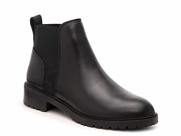Women S Black Flat Low Heel 1 2 Boots Dsw In 2020 Boots Chelsea Boots Womens Black Flats
