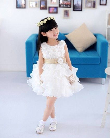 beauty flower girl dress 2~11T,fashion baby girl Princess dress ...