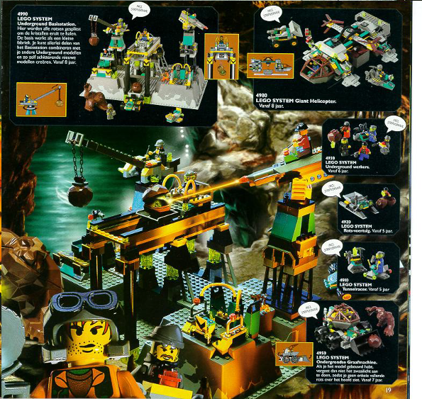 LEGO ROCK RAIDERS 1999 set | lego power miners ja rock raiders ...