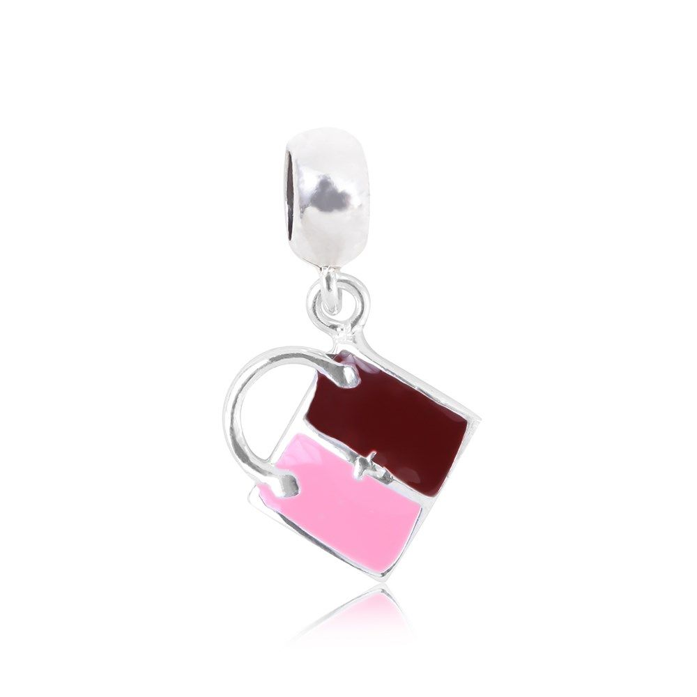 Berloque Prata Bolsa Esmaltado Plus: Compre na Rosana Joias & Relógios - Rosana Joias