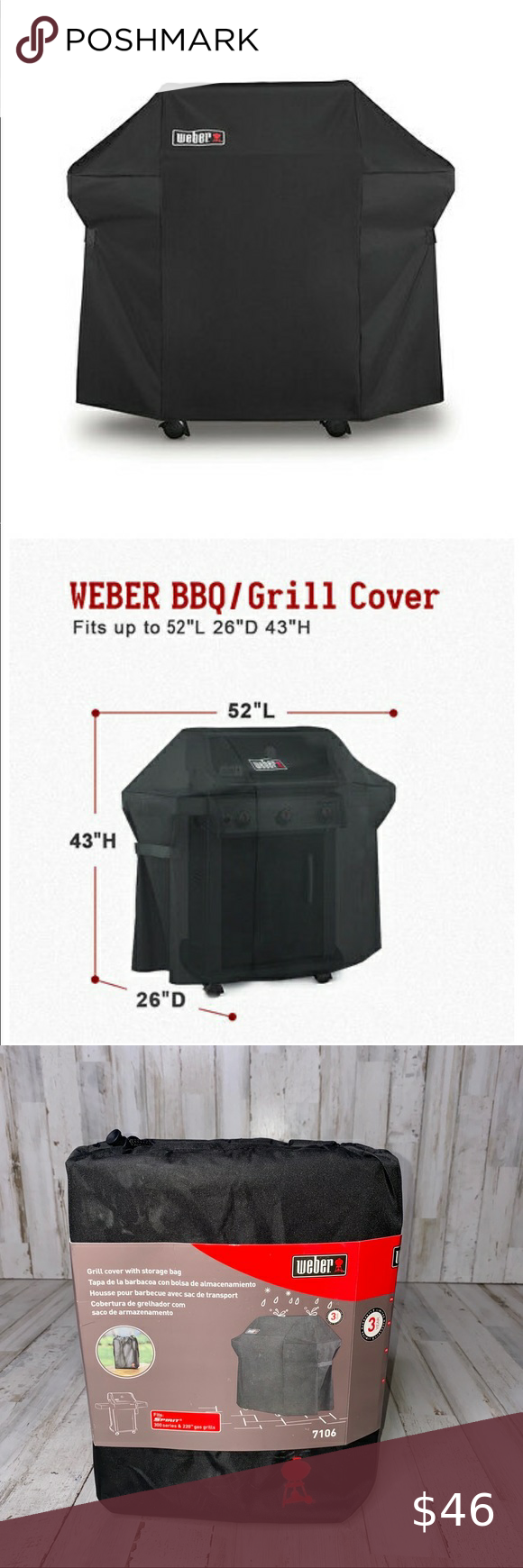 Weber 7106 Grill Cover Spirit 220 And 300 Series In 2020 Grill Cover Cover Grilling