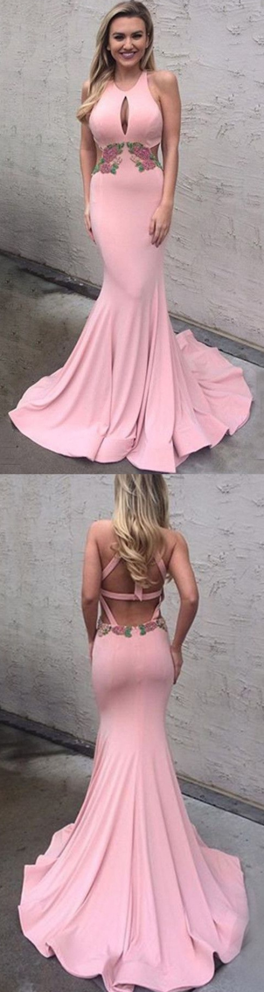 Trumpet prom dresses pink prom dresses long prom dresses with