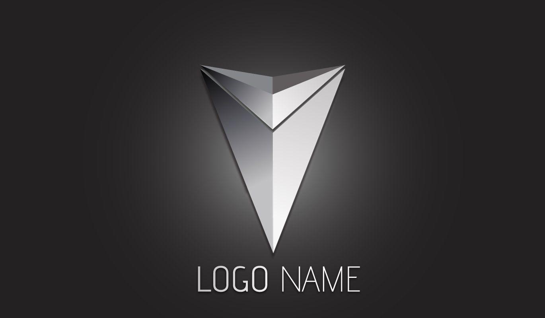 3d poster design tutorial - Illustrator Tutorial 3d Logo Design Metallic Arrow Illustratortutorials