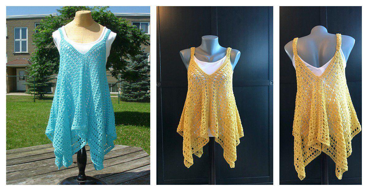 Kanata Kerchief Tank Top Free Crochet Pattern | Pinterest | Häkeln ...