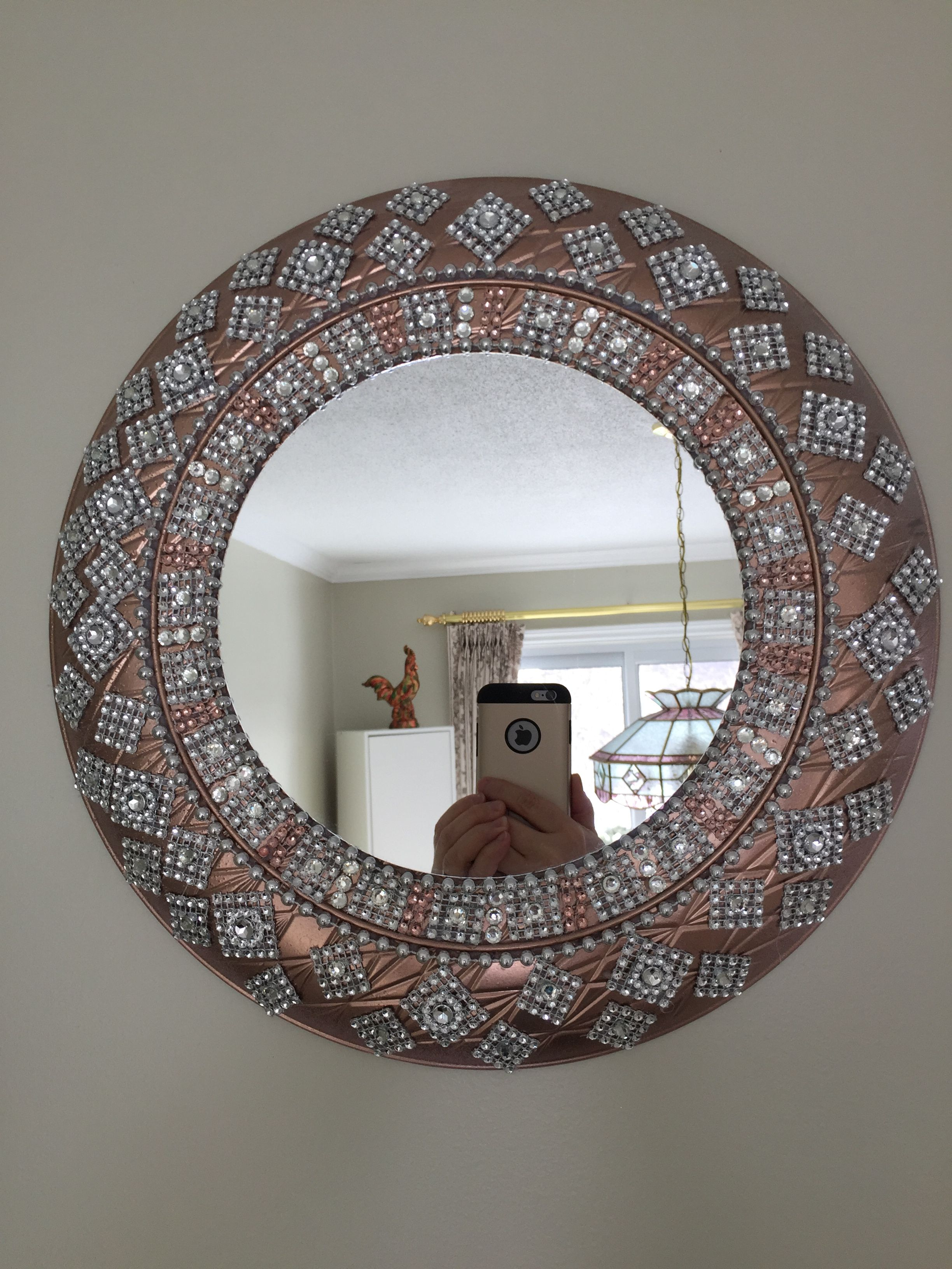This 13 Inch Rose Gold And Silver Mirror Wall Decor It Is