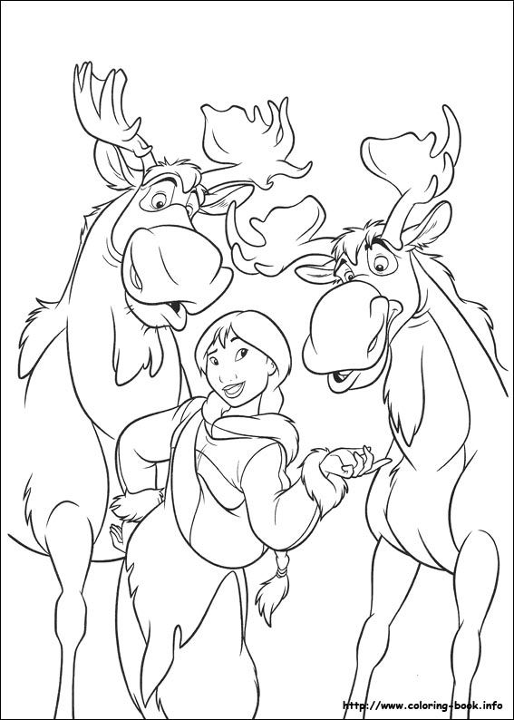 Brother Bear 2 Coloring Picture Disney Coloring Pages Pinterest