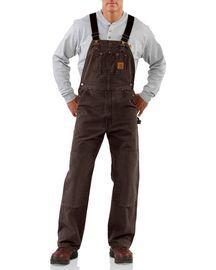 carhartt unlined sandstone bib overalls overalls men on work coveralls id=55824