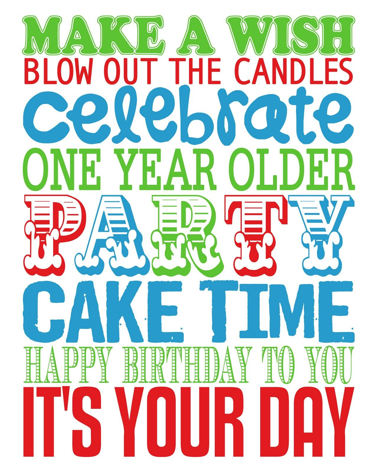 Birthday Sign Ups: Cute Sign To Make To Put Up When It's Someone's Bday