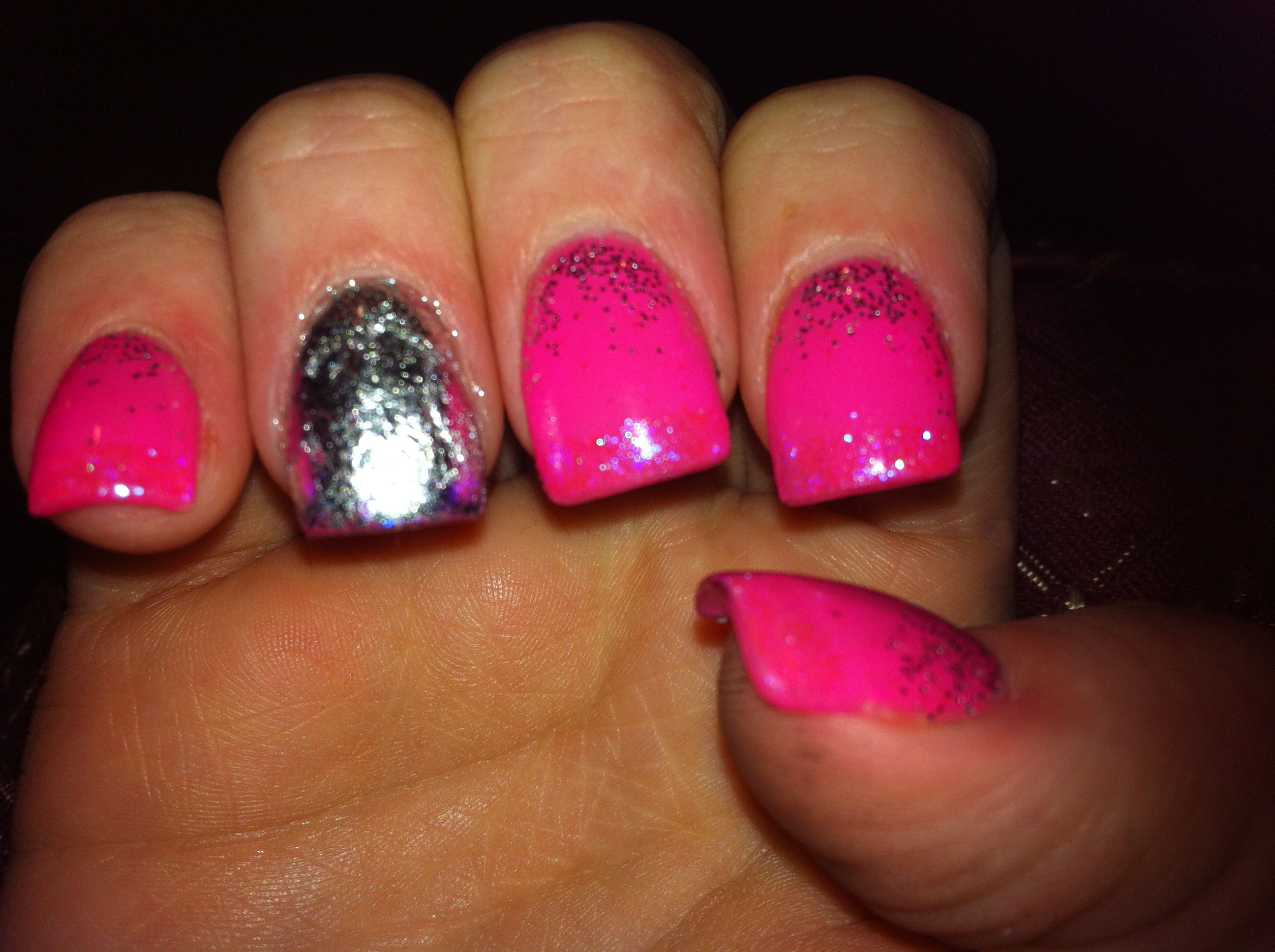 acrylic with gel polish and CND additives and foil | Nails I have ...