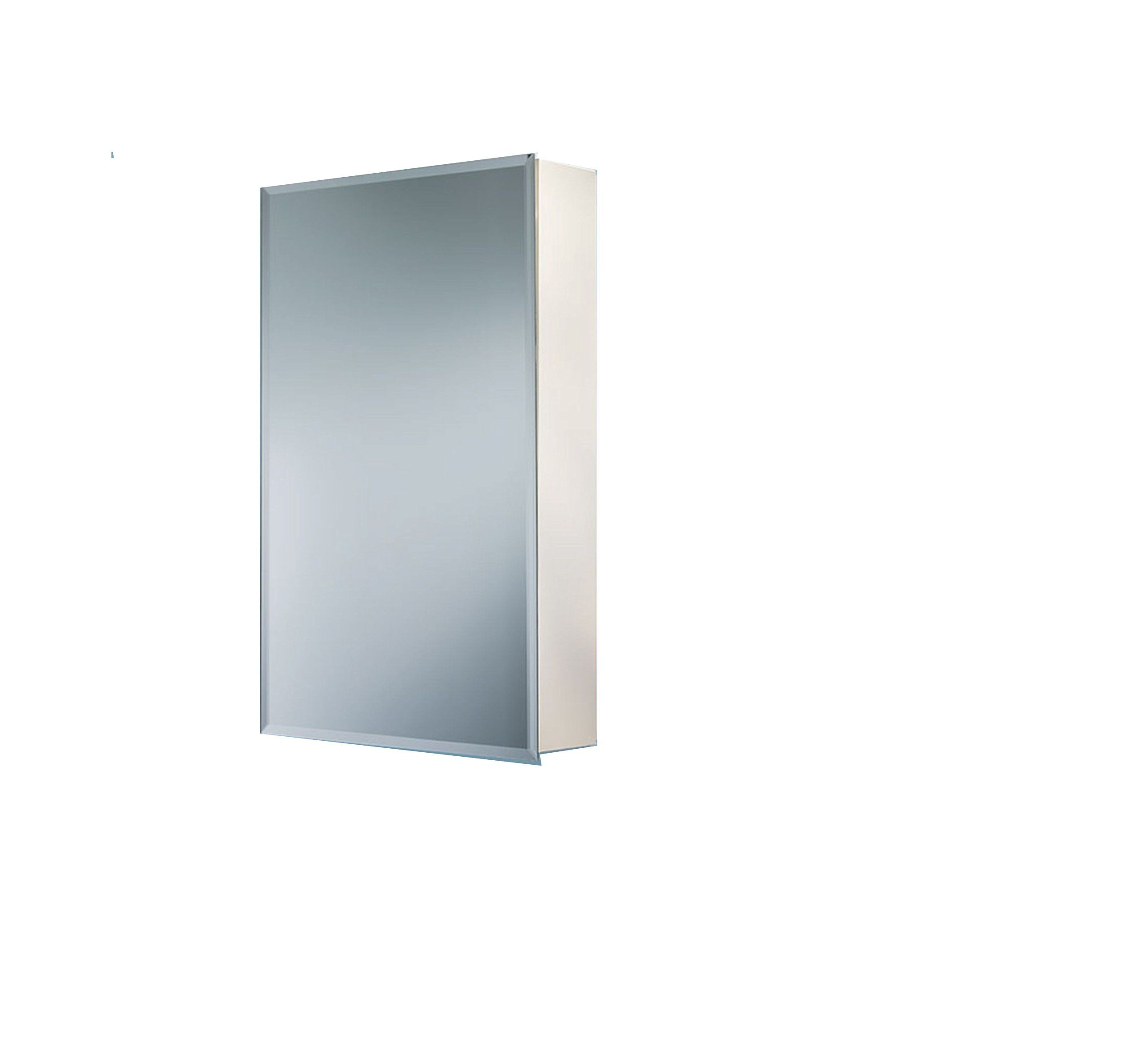 Robern PLM1630WB PL Series 15-1//4-Inch W by 30-Inch H by 3-3//4-Inch D Flat Beveled Mirrored Door White Interior