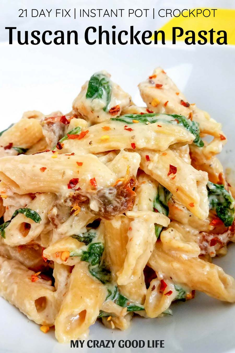Photo of Healthy Tuscan Chicken Pasta