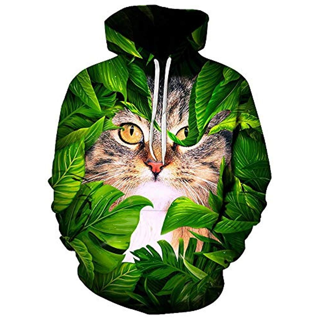 Funny Cat Printed 3D Men Hoodies Women Sweatshirts Autumn Winter Hooded Pullover Casual Tracksuit