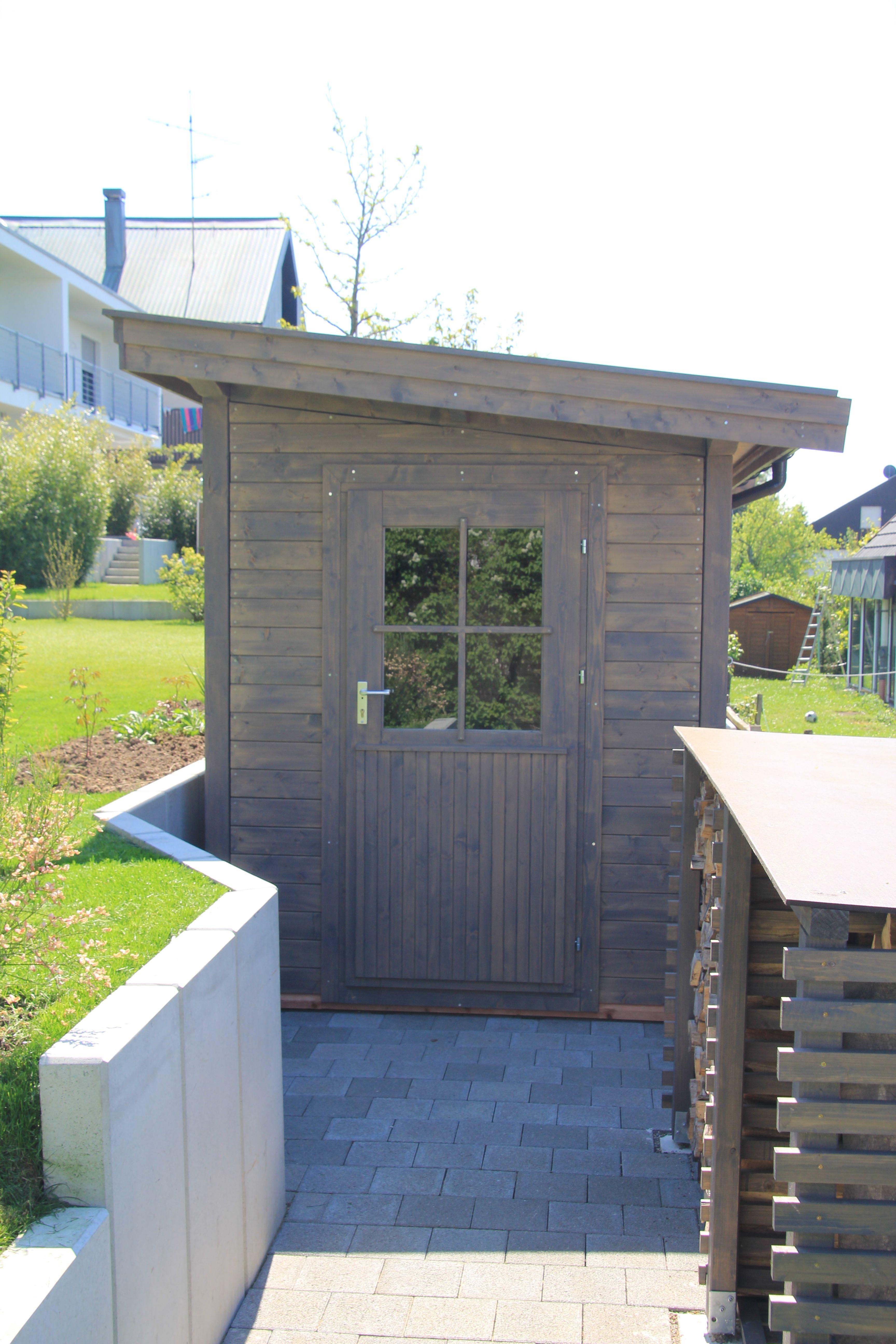 Ein Pultdach Gartenhaus ohne Ecküberstände in