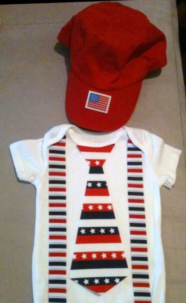 6e19b8c4a164 Fourth 4th of July outfit for baby boys - Patriotic tie onesie with ...