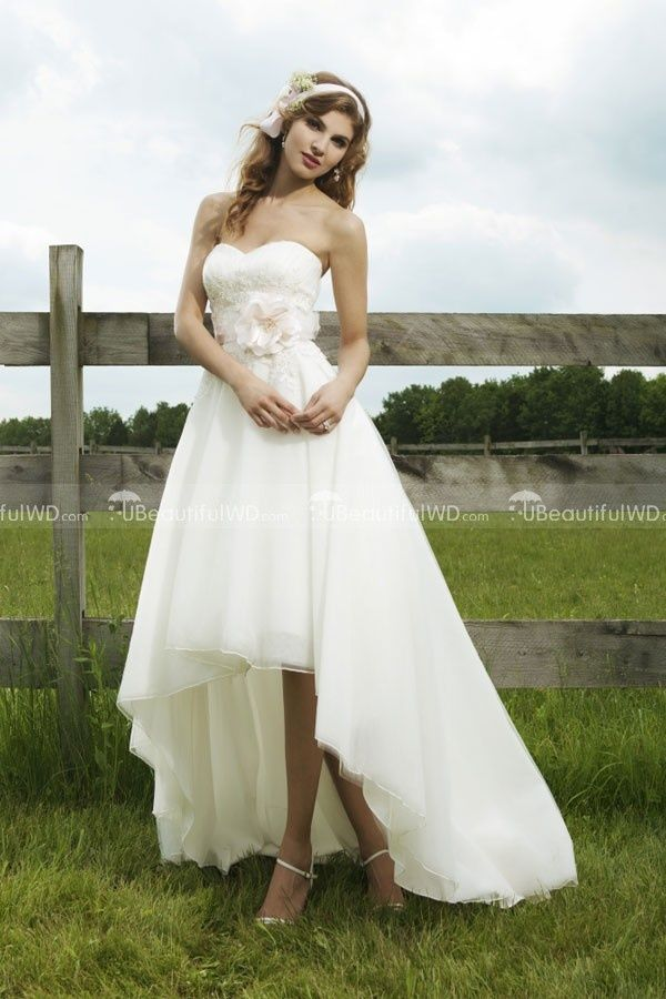 Wholesale Custom Made Strapless Sweetheart Neckline Front Short