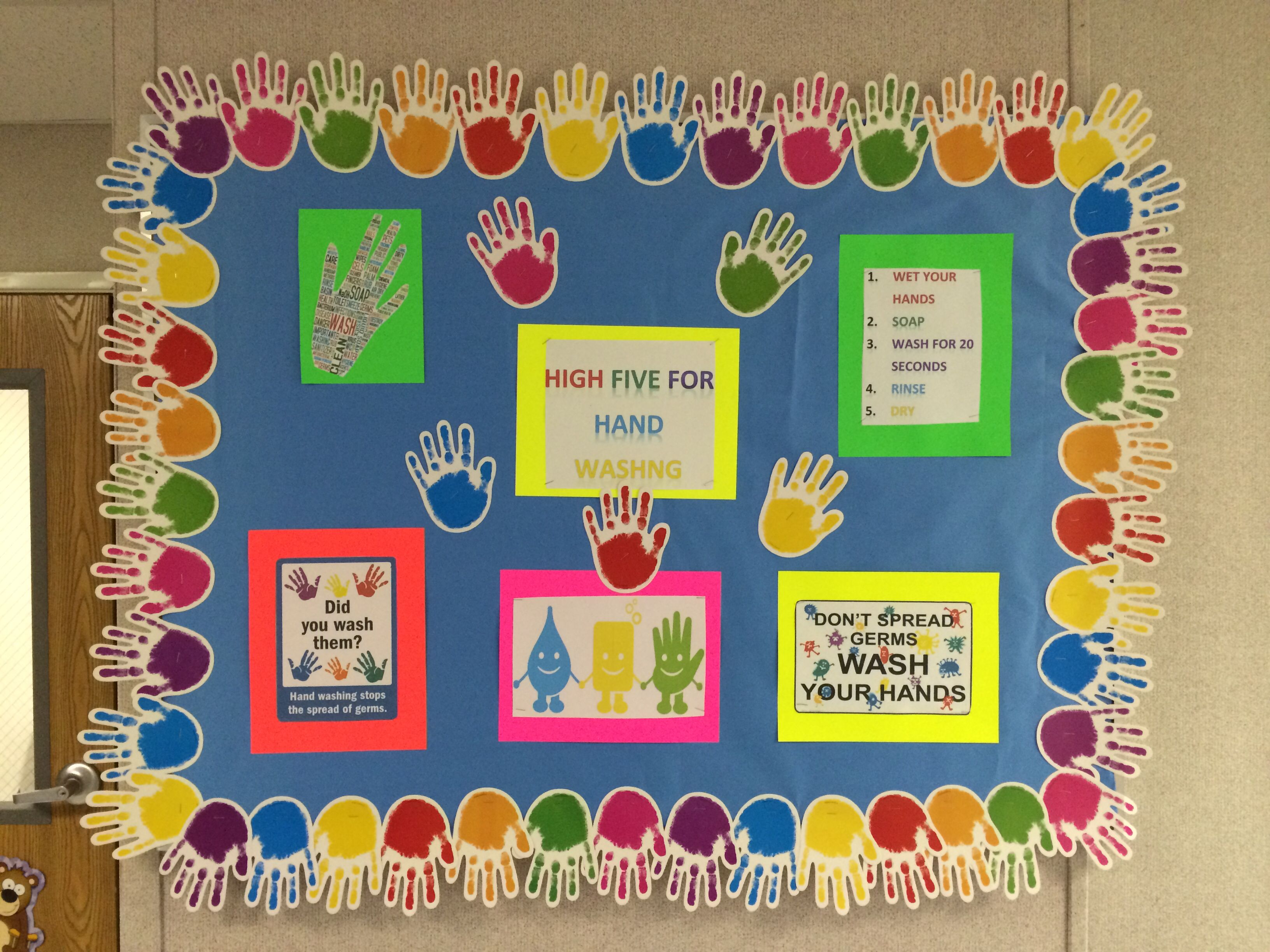My First School Nurse Bulletin Board Hand Hygiene Nurse