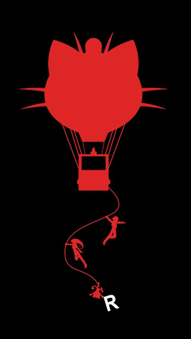 be194490 Team rocket silhouette. Check out more Minimal Style Pokemon Wallpapers for  iPhone. - @mobile9 #minimal #pokemon #fanart