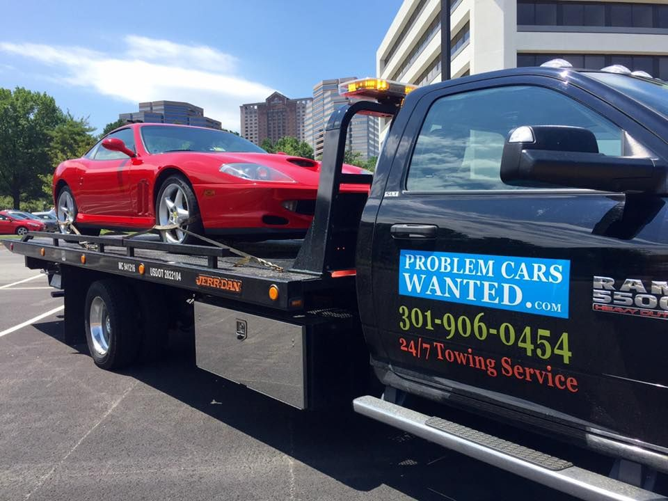 Problem Cars Wanted - Towing Service in Rockville, MD. Call (301 ...