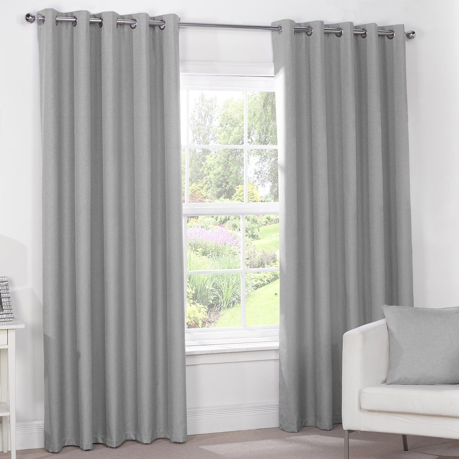 grey bedroom curtains silver grey luxury thermal blackout eyelet curtains 11743