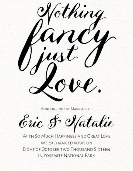 Elopement Announcement Ideas Wedding Announcement Cards Elopement Announcement Marriage Announcement