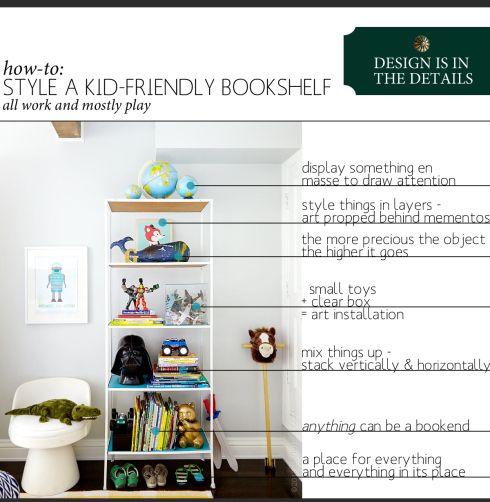 How To Style A Kid Friendly Bookshelf Inspired By Emily Henderson