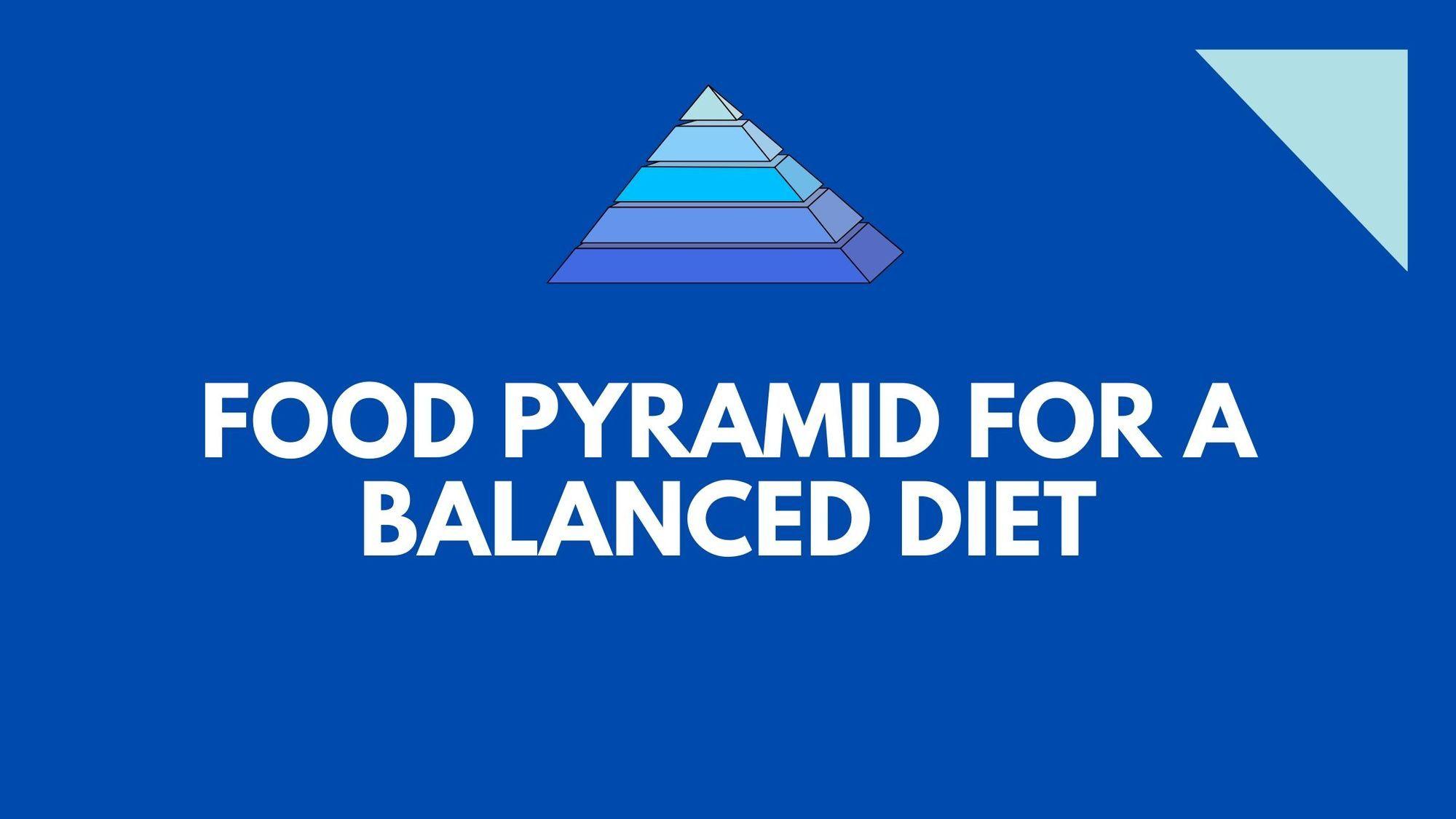 Food pyramid for a balanced diet food pyramid balanced