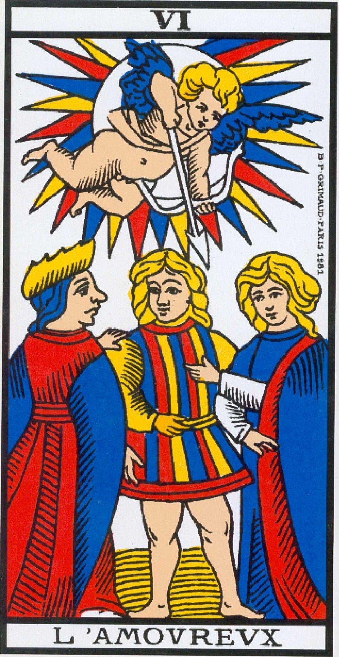 Marseille Tarot Cards 2010: VI Gli Amanti / L'Amoureux / The