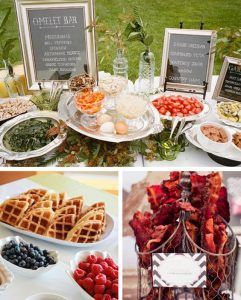 13 Affordable Wedding Ideas Weddingmix Wedding Brunch Reception Wedding Reception Food Buffet Wedding Reception Food