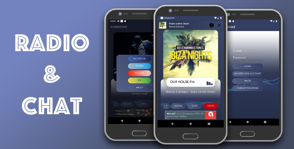 Radio & Chat single station (android) | Design Ideas | Song